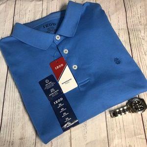 Izod Men's Blue Short Sleeve Polo Size 2XL NWT